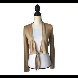 NEW Ralph Lauren Tan Cropped Sweater L